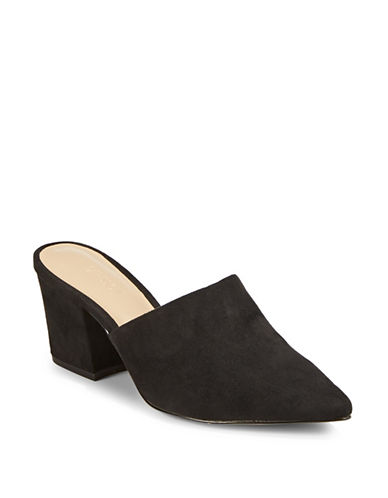 Expression Sefora Block Heel Mules-BLACK-9