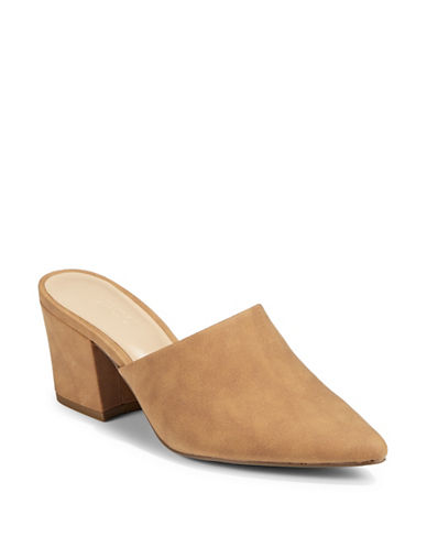 Expression Sefora Block Heel Mules-BROWN-6
