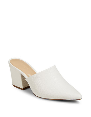 Expression Sefora Block Heel Mules-WHITE-7