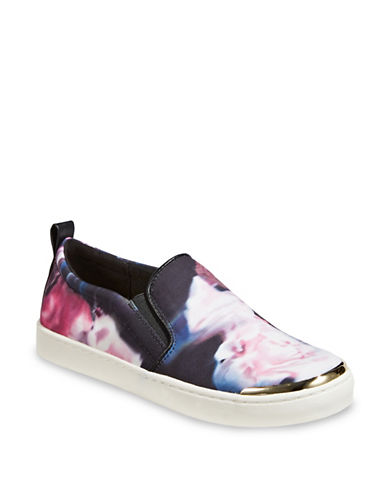 Expression Floral Slip-On Sneakers-BLUE-6