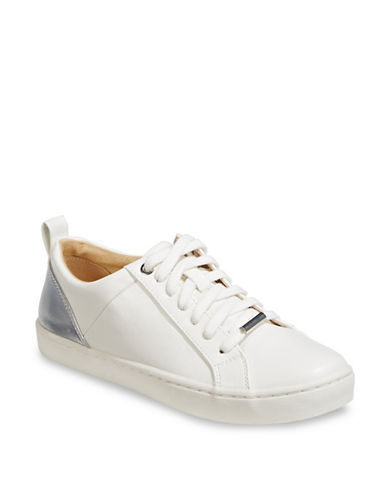 Expression Metallic-Paneled Sneakers-WHITE/SILVER-9