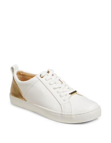 Expression Metallic-Paneled Sneakers-WHITE/GOLD-6