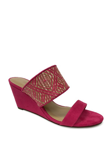 Expression Two-Band Woven Wedge Sandals-PINK-10