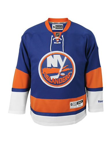Reebok New York Islanders NHL Premier Home Jersey-BLUE-Small
