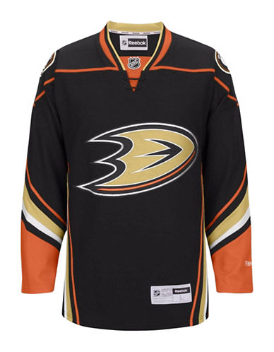 Reebok Anaheim Ducks NHL Premier Home Jersey-BLACK-Small
