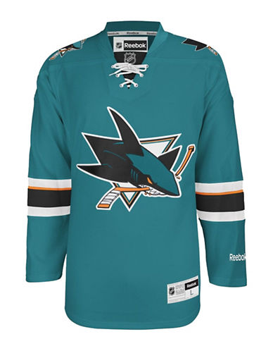 Reebok San Jose Sharks NHL Premier Home Jersey-TURQUOISE-Small