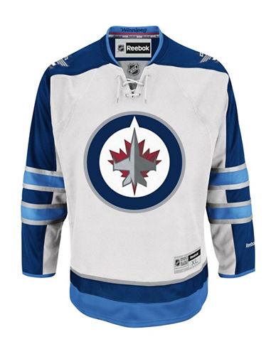 Reebok Winnipeg Jets Reebok NHL Premier Away Jersey-WHITE-Small