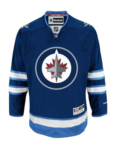 Reebok Winnipeg Jets NHL Premier Home Jersey-BLUE-X-Large