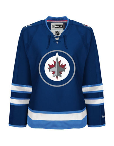 Reebok Winnipeg Jets NHL Premier Home Jersey-BLUE-Medium