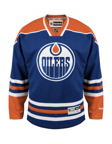 Reebok Edmonton Oilers NHL Premier Home Jersey-BLUE-X-Large