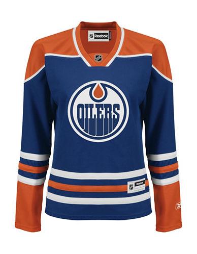 Reebok Edmonton Oilers NHL Premier Home Jersey-BLUE-X-Small