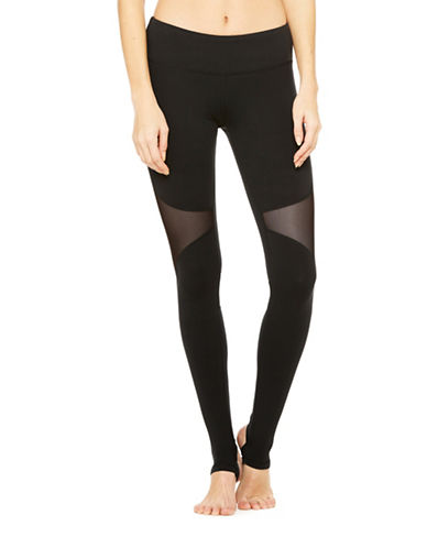 Alo Yoga Coast Mixed Media Leggings-BLACK-Large 88453893_BLACK_Large