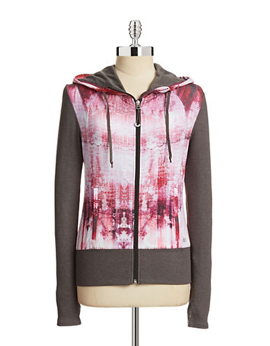 Alo Yoga Flow Contrast Panel Zip Jacket-PINK-X-Small 87727145_PINK_X-Small