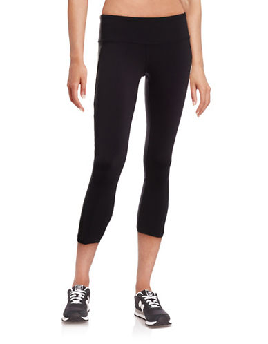 Alo Yoga Stretch Moisture Wick Capri Pants-BLACK-Small 88453894_BLACK_Small