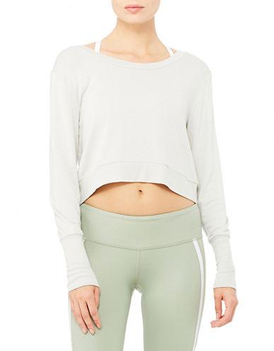 Alo Yoga Ava Long Sleeve Pullover-GREY-Large 88222133_GREY_Large