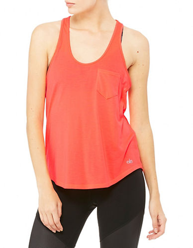 Alo Yoga Extreme Racer Tank-ORANGE-Medium plus size,  plus size fashion plus size appare
