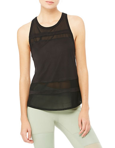 Alo Yoga Ella Illusion Panel Tank-BLACK-Small 88254873_BLACK_Small