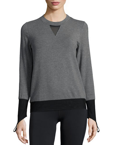 Alo Yoga Serene Finger Loop Top-GREY-Medium 88581783_GREY_Medium