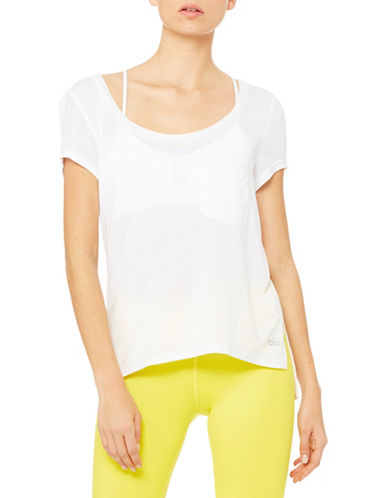 Alo Yoga Rise Short Sleeve Top-WHITE-Small 88412652_WHITE_Small