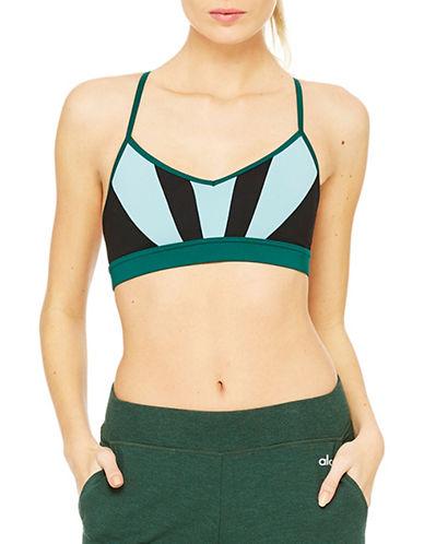 Alo Yoga Radiance Bra-BLACK/GREEN-Large 88581807_BLACK/GREEN_Large