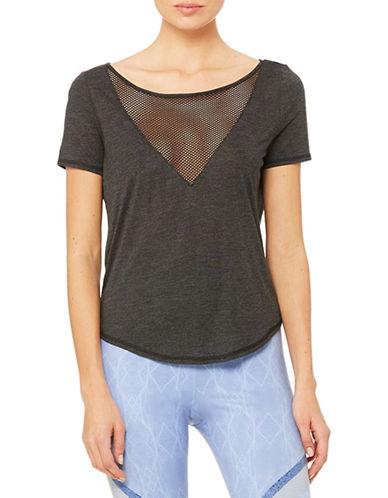 Alo Yoga Mesh-Panel T-Shirt-CHARCOAL-Small 88581762_CHARCOAL_Small