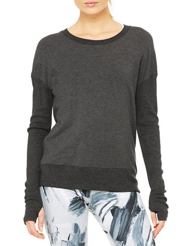 Alo Yoga Open Back Pullover-GREY-Medium 88453877_GREY_Medium
