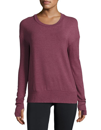 Alo Yoga Open Back Pullover-RED-Small 88683846_RED_Small