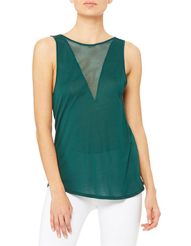 Alo Yoga Warm-Up Tank-GREEN-Large plus size,  plus size fashion plus size appare