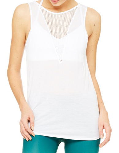 Alo Yoga Warm-Up Tank-WHITE-Medium plus size,  plus size fashion plus size appare