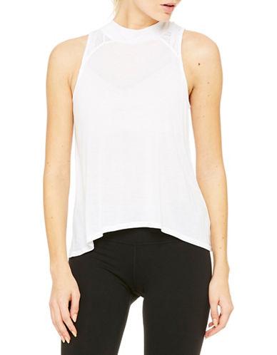 Alo Yoga Crest Solid Tank-WHITE-Medium plus size,  plus size fashion plus size appare