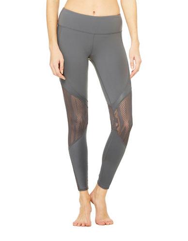 Alo Yoga Vitality Lace Leggings-GREY-Large 88453903_GREY_Large
