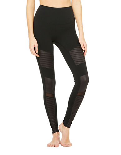 Alo Yoga High Waist Moto Legging-BLACK-Medium 89019183_BLACK_Medium