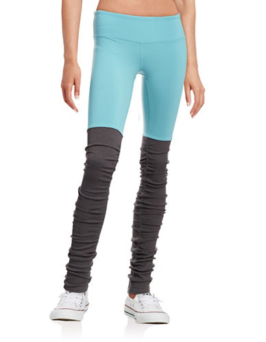 Alo Yoga Goddess Ribbed Leggings-BLUE-Large 88453889_BLUE_Large