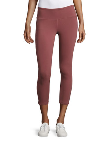 Alo Yoga Stretch Moisture Wick Capri Pants-RED-Medium 88683873_RED_Medium