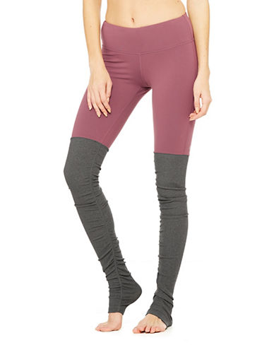 Alo Yoga Goddess Ribbed Leggings-GREEN-Medium 88683870_GREEN_Medium