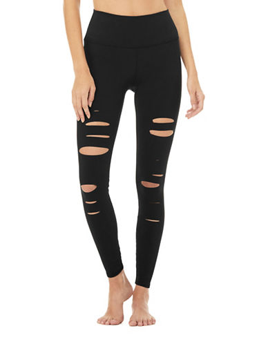 Alo Yoga High-Waist Cutout Leggings-BLACK-Large 89485080_BLACK_Large