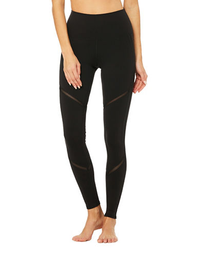 Alo Yoga High Waist Continuity Leggings-BLACK-X-Small 89121545_BLACK_X-Small