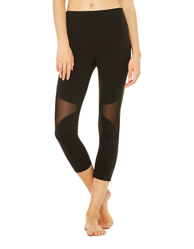 Alo Yoga High Waist Coast Capris-BLACK-Medium