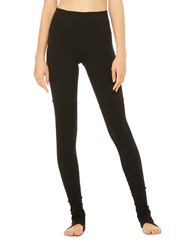 Alo Yoga High Waist Goddess Leggings-BLACK BLACK-Small
