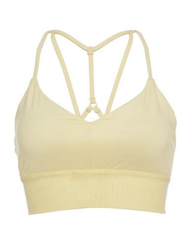 Alo Yoga Elasticized Support Sports Bra-LEMONCELLO-Medium 89019207_LEMONCELLO_Medium