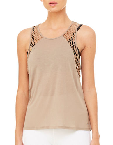 Alo Yoga Cage Tank-RICH SAND-Small