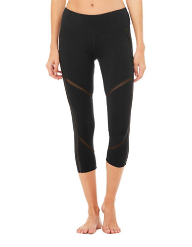 Alo Yoga Continuity High-Waist Capri Leggings-BLACK-Medium 89485071_BLACK_Medium