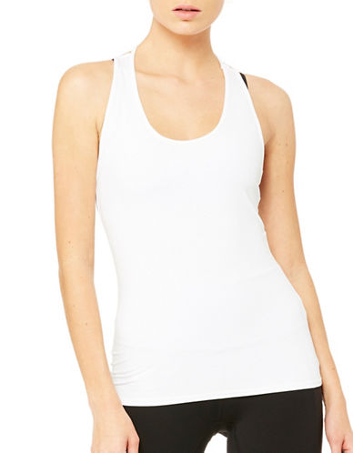 Alo Yoga Racerback Tank Top-WHITE-Medium