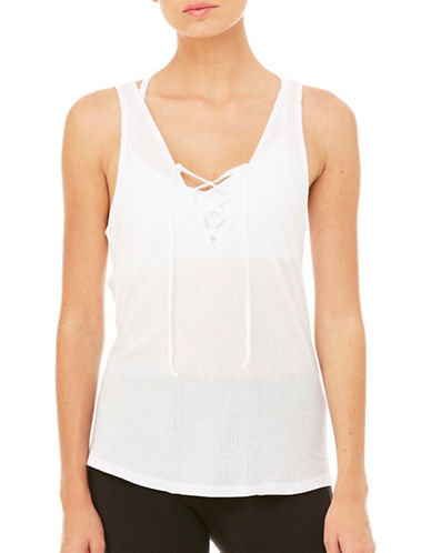 Alo Yoga Interlace Tank-WHITE-Medium