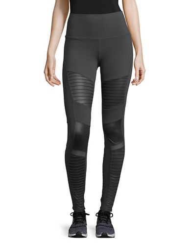 Alo Yoga High-Waisted Moto Leggings-GREY-Medium 89555355_GREY_Medium