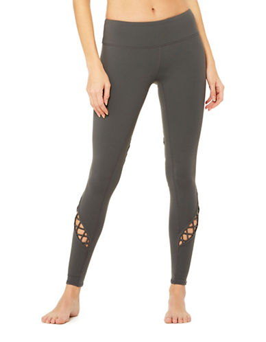 Alo Yoga Entwine Lattice Leggings-GREY-Small