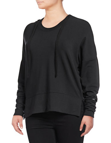 Alo Yoga Dropped Shoulder Hoodie-BLACK-Medium 89555343_BLACK_Medium