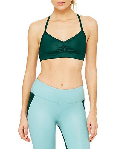 Alo Yoga Sunny Strappy Bra-GREEN-Medium