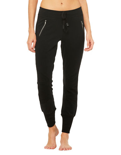 Alo Yoga Urban Moto Sweatpant-BLACK-Medium