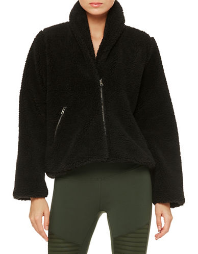 Alo Yoga Faux Fur Cozy Jacket-BLACK-Small 89700627_BLACK_Small